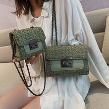 купить Women Shoulder Bag for Lady Knitting Hand bag Fashion Houndstooth Women Flap Messenger Bag Luxury Handbags Women  Designer Bags по цене 772.46 рублей