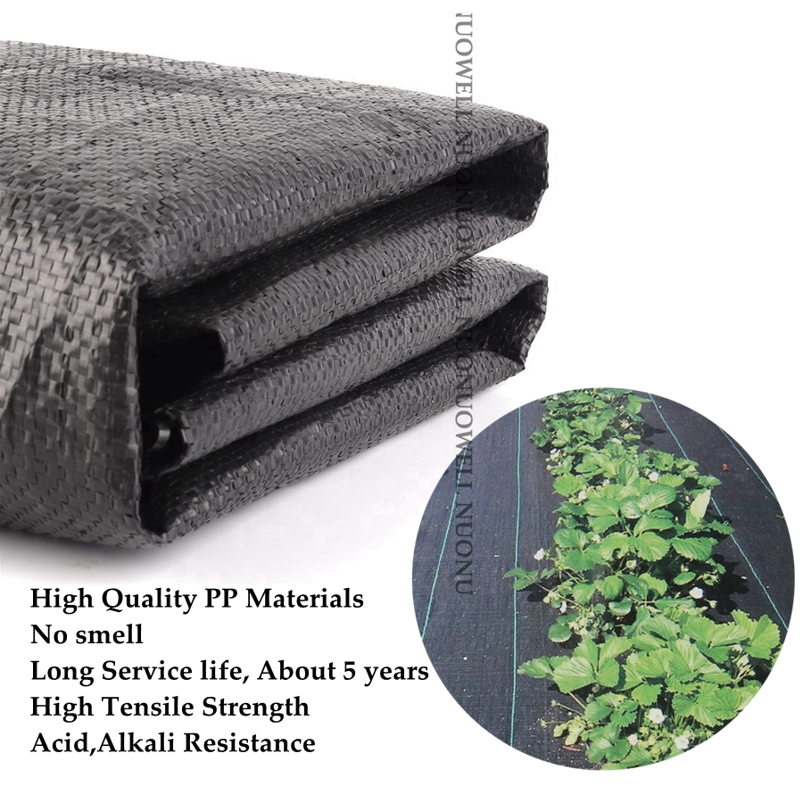 Wide0.5~4m Black Weed Mat Vegetable Garden Weeding Cloth Weed Control Anti Grass Cloth Greenhouse Weed Control Mat Plastic Mulch