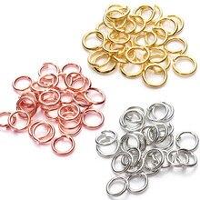 200 sztuk ze stali nierdzewnej otwarte złoto srebro 4 5 6 8mm dzielone pierścienie złącza dla komponenty do biżuterii Diy Making akcesoria