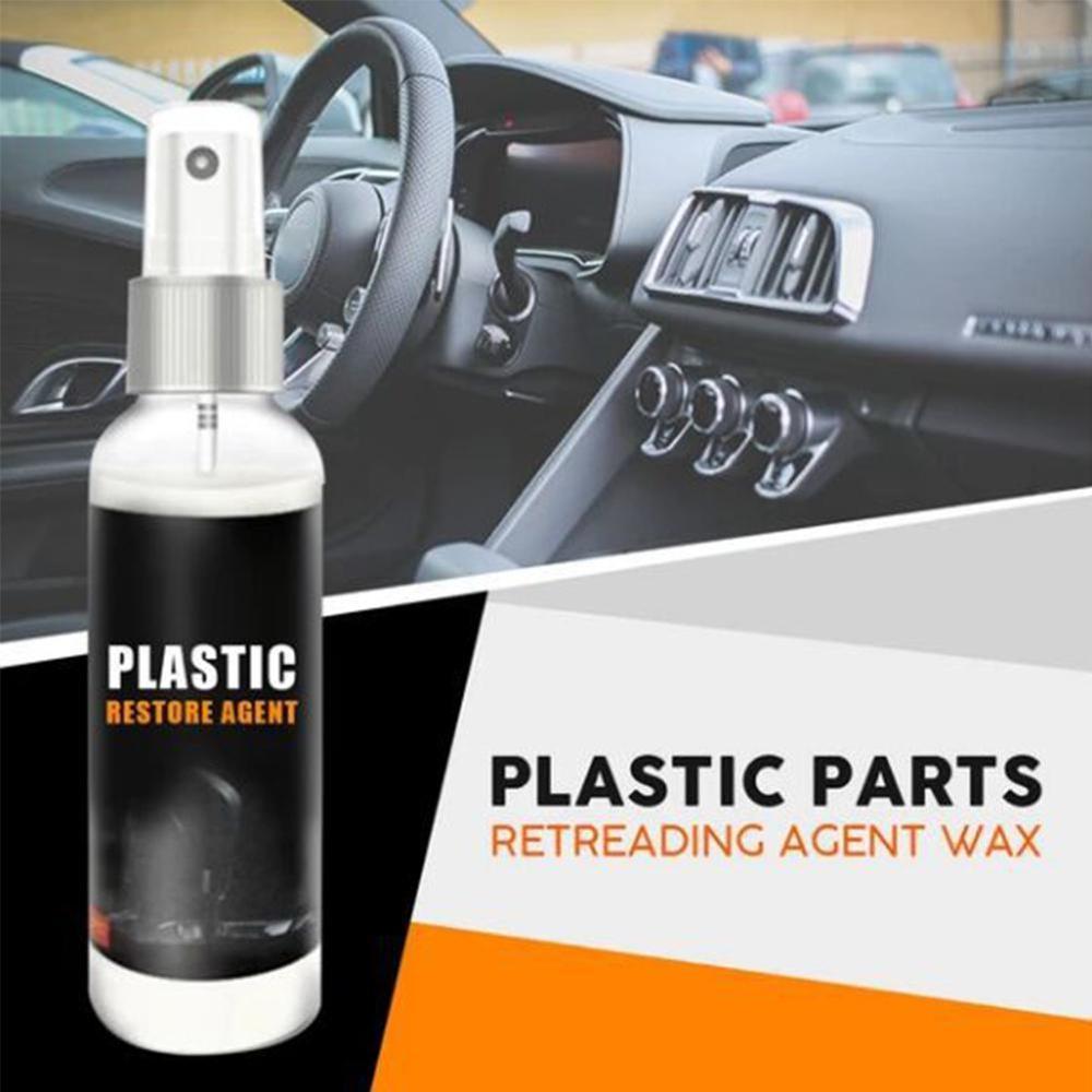 100ml Plastic Parts Retreading Wax Instrument Panel Agent Automotive Interior Plastic Part Retreading Coating Paste Maintenance