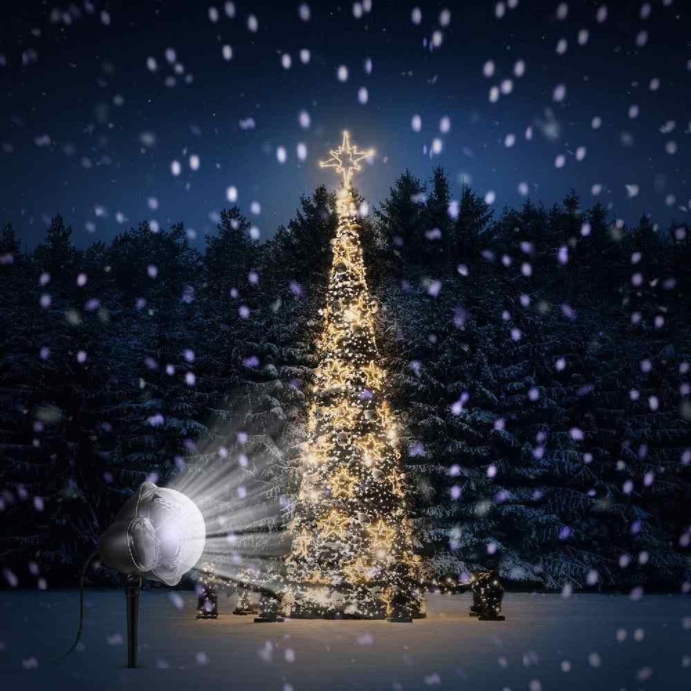 Foto Con La Neve Di Natale.Nevicata Ha Portato Proiettore Di Luce La Neve Che Cade Luce Per Interni Esterni Di Natale Snowfake Scene Di Luce Rgb Con Telecomando Stage Lighting Effect Aliexpress