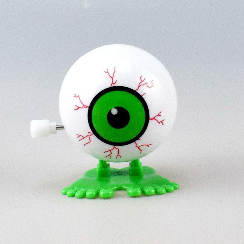 Novelty Spring-Winding Winding Jumping White Bigeye Ball Toy Halloween Gift