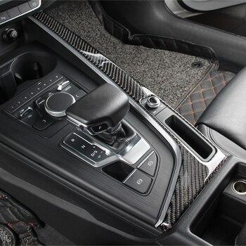 Декоративная рамка из углеродного волокна для Audi A4 B9 2017-2019 LHD, панель переключения передач, наклейки, автомобильные аксессуары