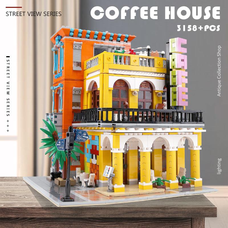 Yeshin MOC 10002 The Cafe Havana Shining Set Compatible With 10251