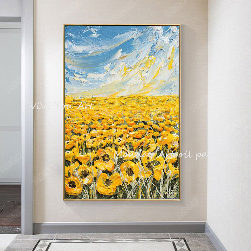 100-Hand-Painted-Abstract-Sunflower-Art-Painting-On-Canvas-Wall-Art-Wall-Adornment-Pictures-Painting-For (2)