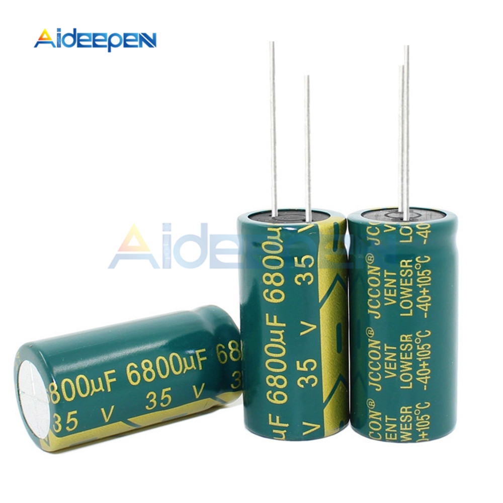 5PCS 35V 6800UF 18*35MM Aluminum Electrolytic Capacitor 18x35MM
