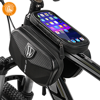 LOVELION Cycling Bicycle Head Tube Handlebar Cell Mobile Phone Bag Holder Case Pannier Waterproof Touchscreen Polyester Bike