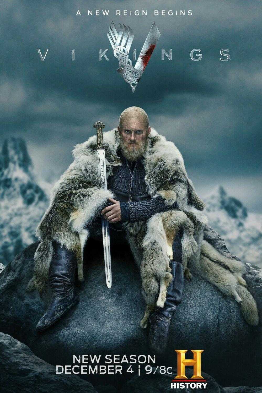 Vikings Season 6 Serial Tv Kain Sutra Poster Dinding Seni Dekorasi Stiker Cerah Aliexpress