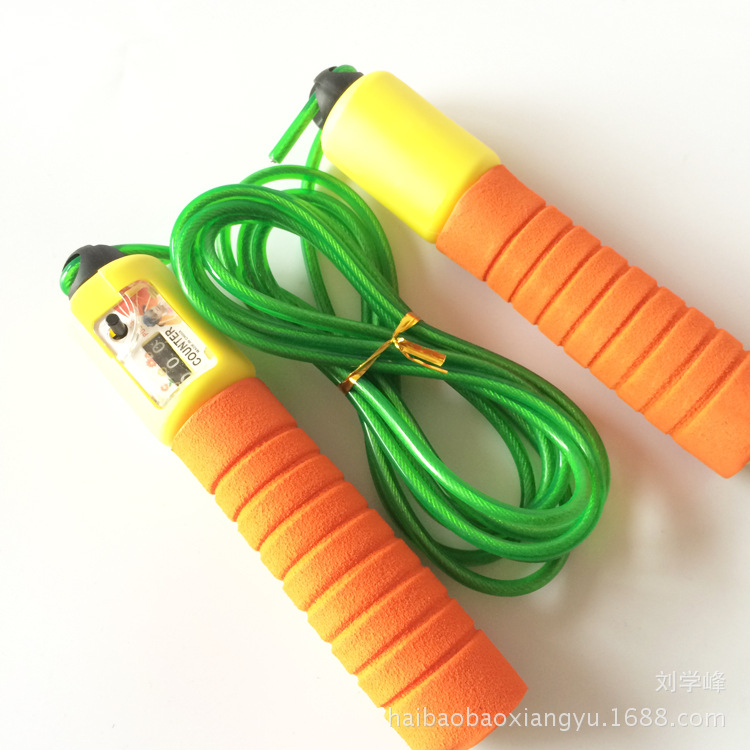Sponge Handle For Student Count Jump Rope Metal Necklace Chain Sports Supplies Exercise Sports