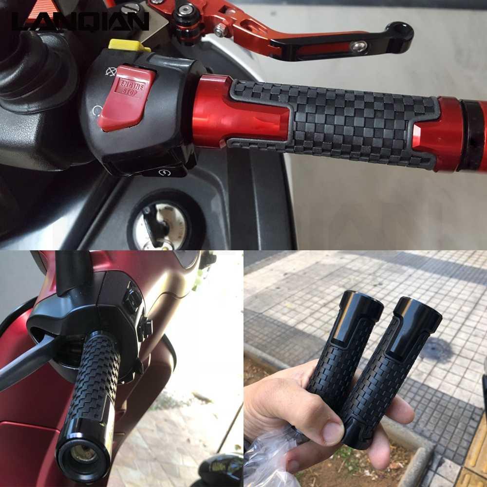 Мотоцикл 7/22 мм CNC алюминиевый резиновый гелевый рукоятка штыри для Honda TRANSALP 600 вх/всю VK/ВБ VM/VN VP/Очки виртуальной реальности VR/VS TRANSALP600