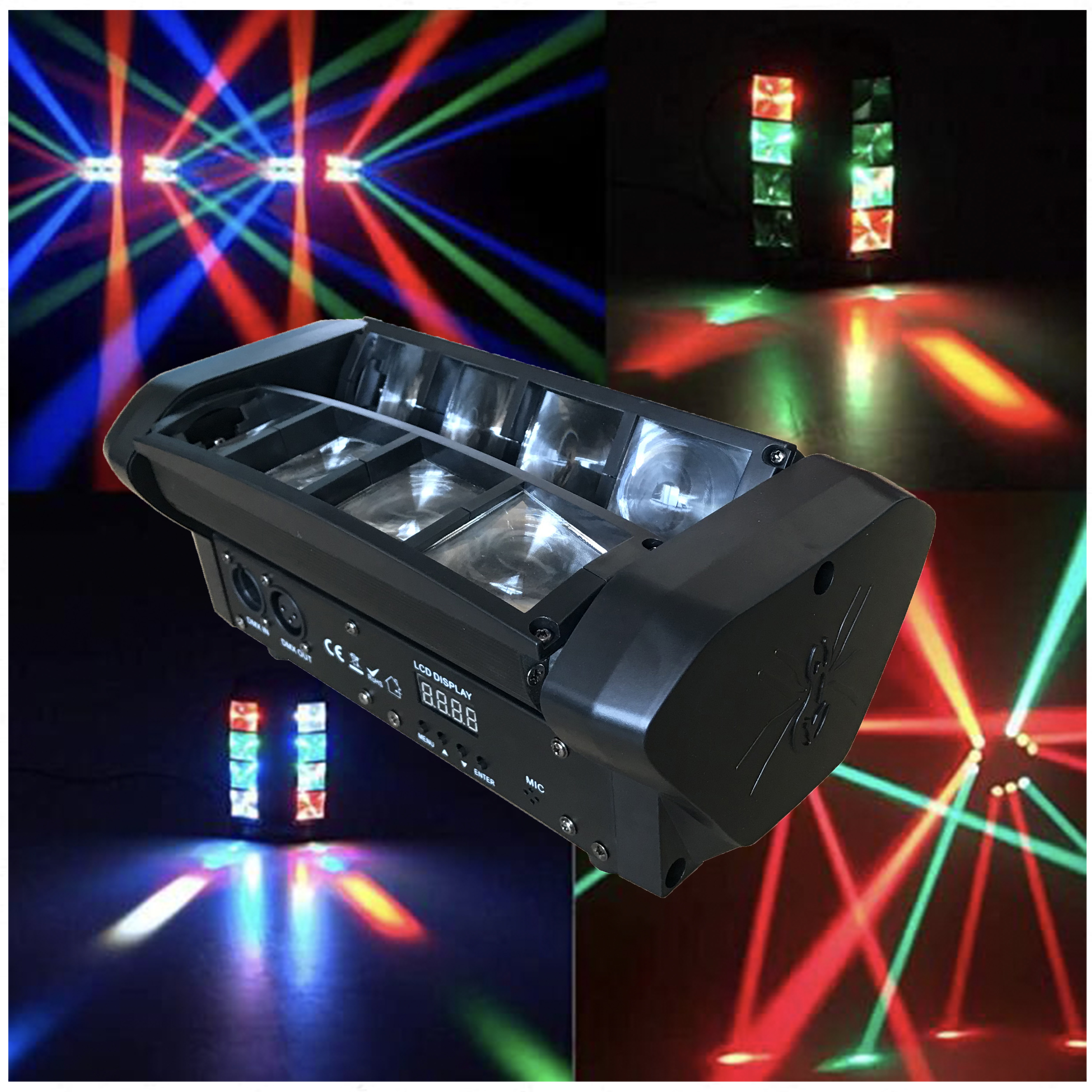 High Quality LED Moving Beam 8x10W RGBW Band Is Used For Stage Lighting Of DJ Disco Club