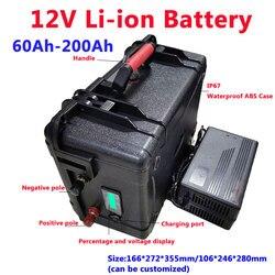 Batterie portative de polymère de Lithium de 12V 60AH, 80AH, 100AH, 120AH, 150AH, 180, 200AH pour des moteurs de bateau/batterie externe de panneau solaire + chargeur 10A