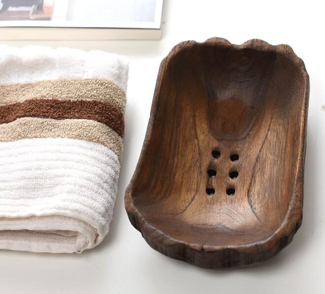 Craftsmanship Solid Wood Soap Box Soap Mop Wood Logs Handmade Soap Holder Teak Soap Holder Drain Soap Box