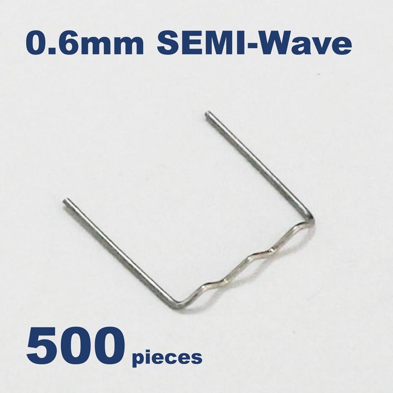 100* 0.8//0.6mm Wave Flat Staples Cut Novelty For Plastic Stapler Repair Welder