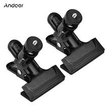 Andoer Clamp with Ball Head 1pcs/2pcs Multifunctional Photography Metal Clamp with Rotatable Ball Head for Cameras Tripod