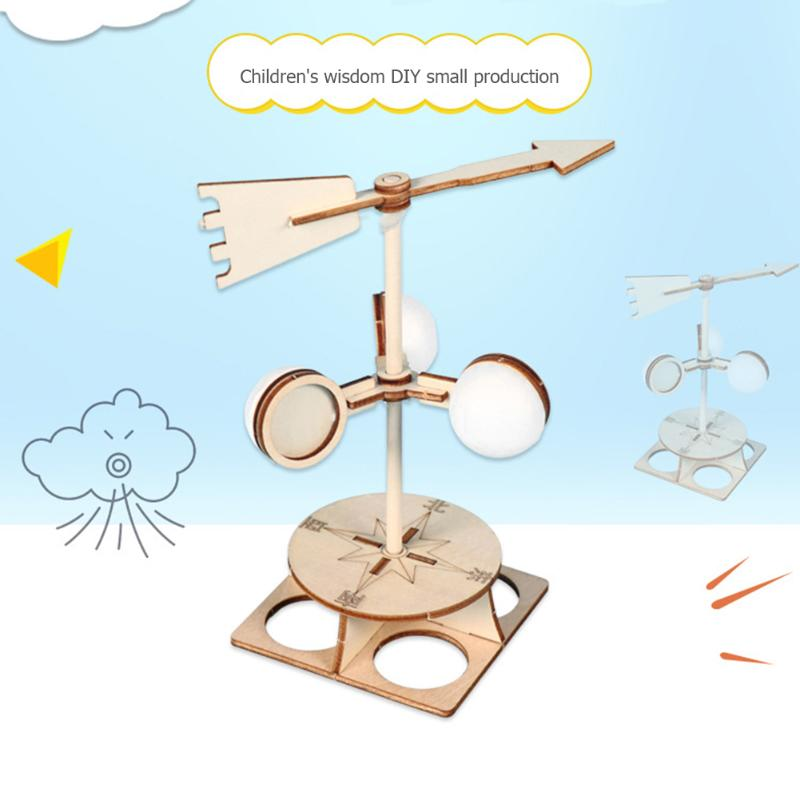 Children Wind Vane Model Exercise Practical Ability Color Cognition DIY Direction Experiment Kit Technology Scientific Toys