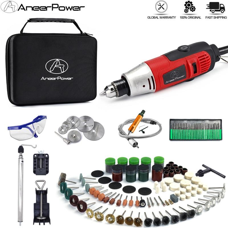 Mini perceuse électrique Dremel 260W, outil électrique rotatif, Machine à polir, meulage, sculpture, stylo de gravure avec accessoires