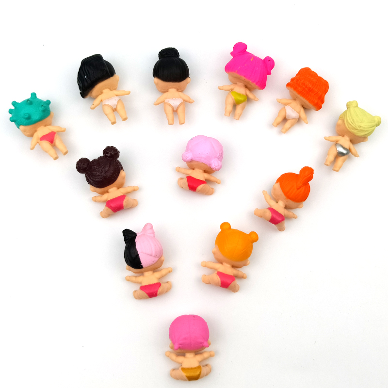 12 Pcs dolls the toys baby reborn toys for girls stickers slime action figure anime figure Toy Figures dolls for girls in Dolls from Toys Hobbies