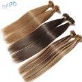 SEGO Rechte 16 18 20 22 24 Keratine Capsules Human Fusion Hair Nail U Tip non-Remy Pre Gebonden Hair Extensions 1g/strand 50g