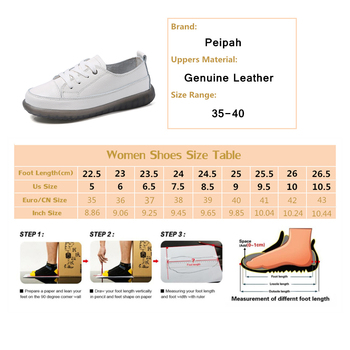 PEIPAH Sport Shoes Women Natural Genuine Leather Flat Casual Shoes Female Ballet Flats Lace Up