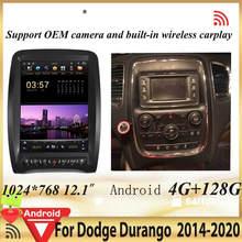 PX6 de pantalla Vertical 128G navegación GPS Multimedia para coche Dodge Durango 2008 2020 Autoradio GPS reproductor de vídeo de la unidad