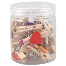 Push-Pins Clips Thumbtacks Cork-Boards Photos-Craft Wooden with Heart for Artworks-Notes