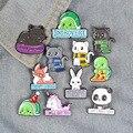 Носки для малышей с милым рисунком панды черепаха кот брошь для женщин значок на булавке на металлическая брошь для воротника, броши для муж...