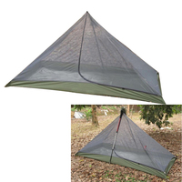 One Person Trekking Pole Tent  Ultralight Backpacking Tent Mesh Tent with Pyramid Shape Design  Easy Set up|Tent Accessories| |  -