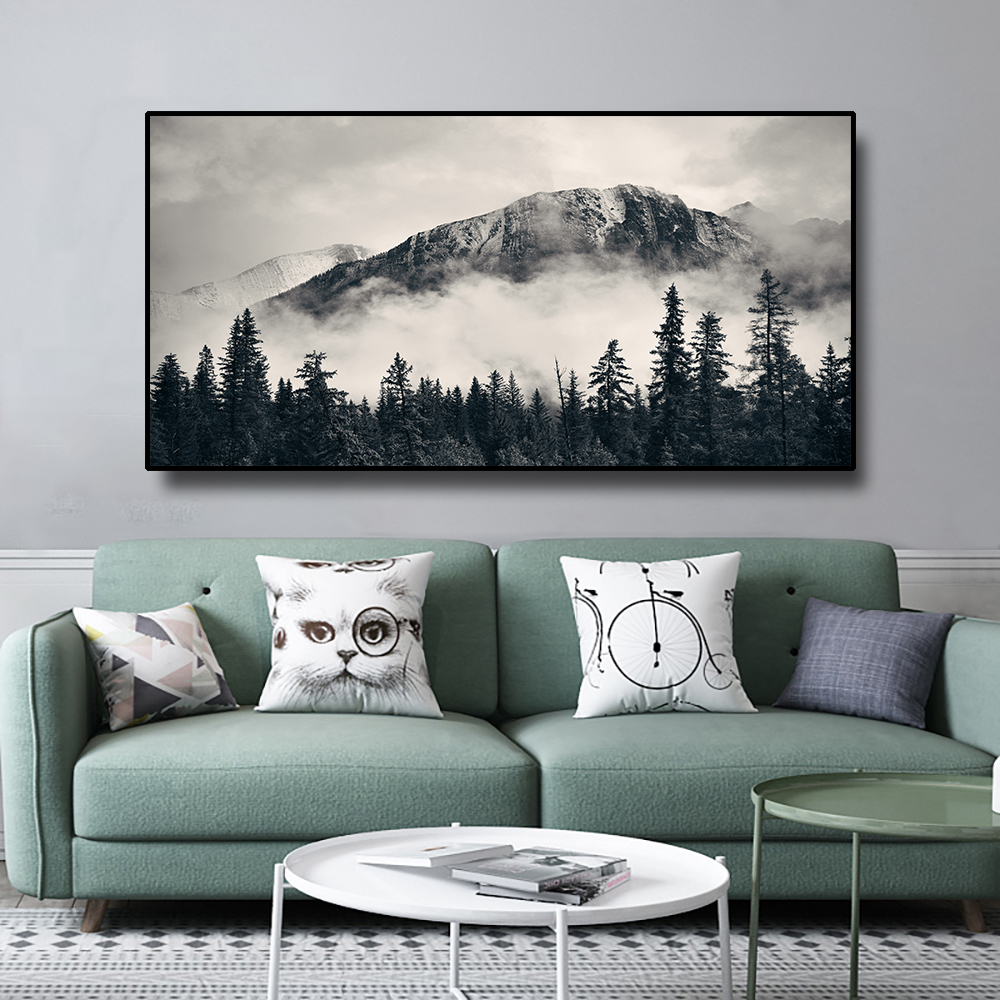 Nordic Forest Landscape Wall Art Canvas Posters and Prints Canvas Painting Decorative Wall Picture For Living Room Home Decor