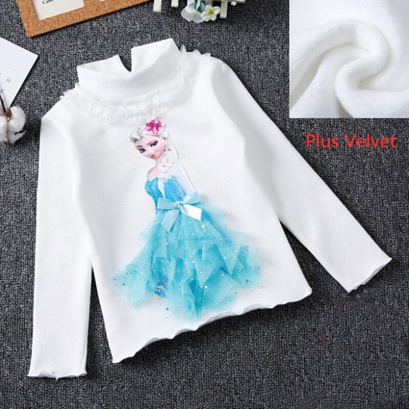 Girls New Summer Princess T-Shirt Elsa Childen Cotton Tees Lace T Shirt 3D Diamond Appliques Kids Birthday Party Top Clothing 19