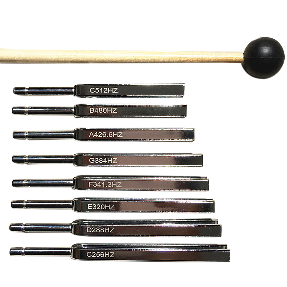 Sound Physics Vibration Tuning Fork Set Medical Diagnostic Hearing Testing Medical Tools Portable Professional Wooden Box Steel