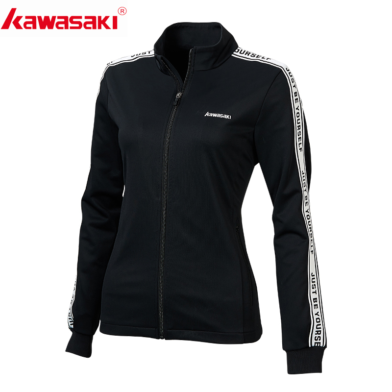 Kawasaki Women Running Jackets Jogging Sweatshirt Ladies Yoga Sports Zipper Jacket Coat Fitness Gym Shirts Women's Clothing