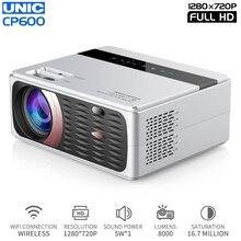 CP600 домашний видеопроектор 720P с физическим разрешением 4,3 дюймов Большой проектор поддерживает Вход 1080P wifi