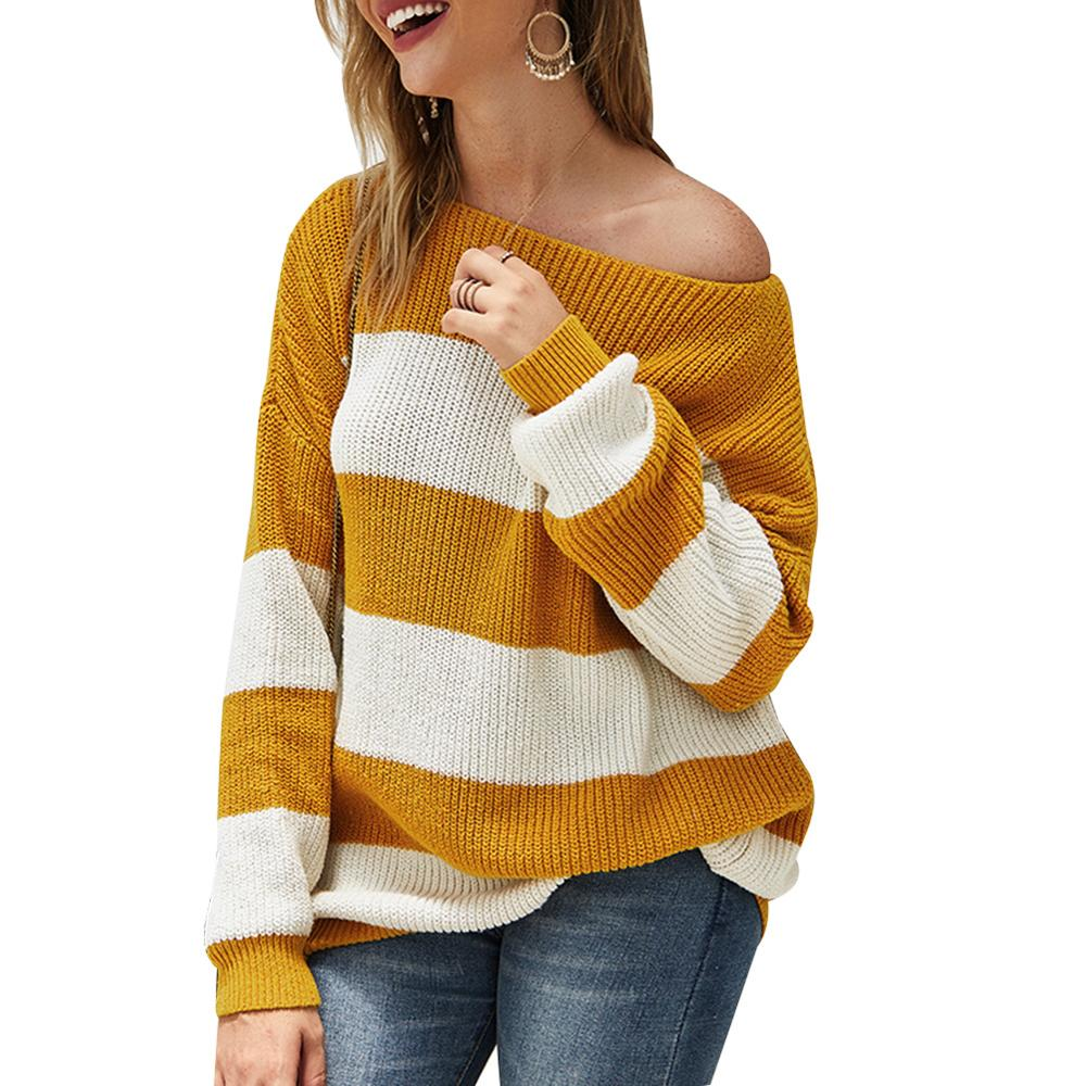 Knitwear Knit Shirt Long Sleeve Casual Womens Loose Tops Pullover Knitted