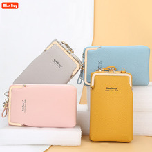PU Leather Travel Portable High Quality Phone Bag for iPhone 12 for Samsung Galaxy S20 Shoulder Bag Brand Ladies Crossbody Bag