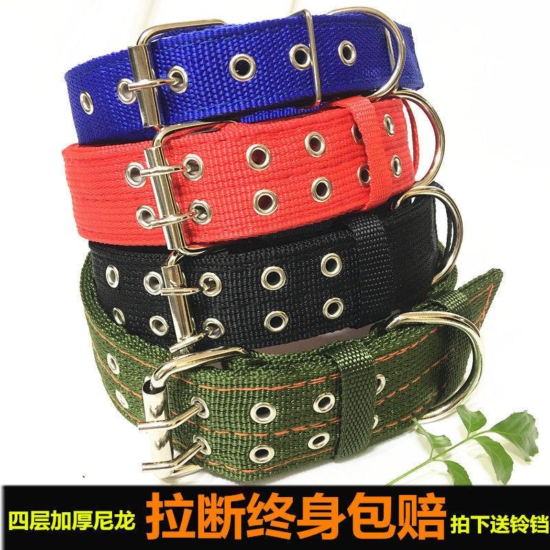 Large Dog Dog Neck Ring Pet Supplies Dog Collar Collar Collar Medium-sized Dog Golden Retriever German Shepherd Scarf Bandana He