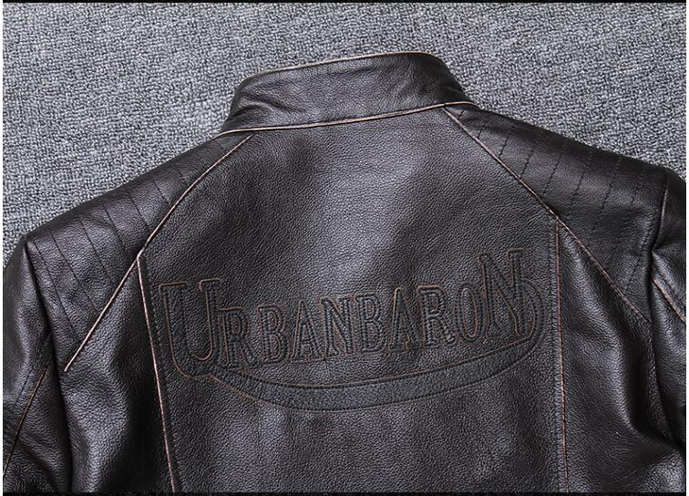 H4c7dea2513cb4579963d1b389cea96dbG 2019 Vintage Brown Men Slim Fit Motorcycle Leather Jacket Plus Size XXXXL Genuine Cowhide Spring Biker's Coat FREE SHIPPING