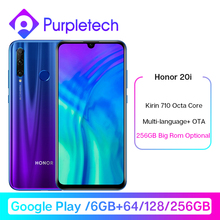 Honor 20i 20 i Smartphone Google Play 20 lite Kirin 710 Octa Core Front 32MP Rear 24MP Triple Camera
