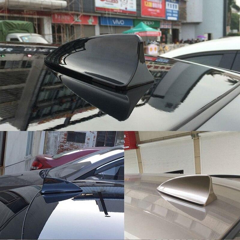 Black Shark Fin Car Exterior Top Roof FM//AM RV Radio Aerial Signal Antenna Mast