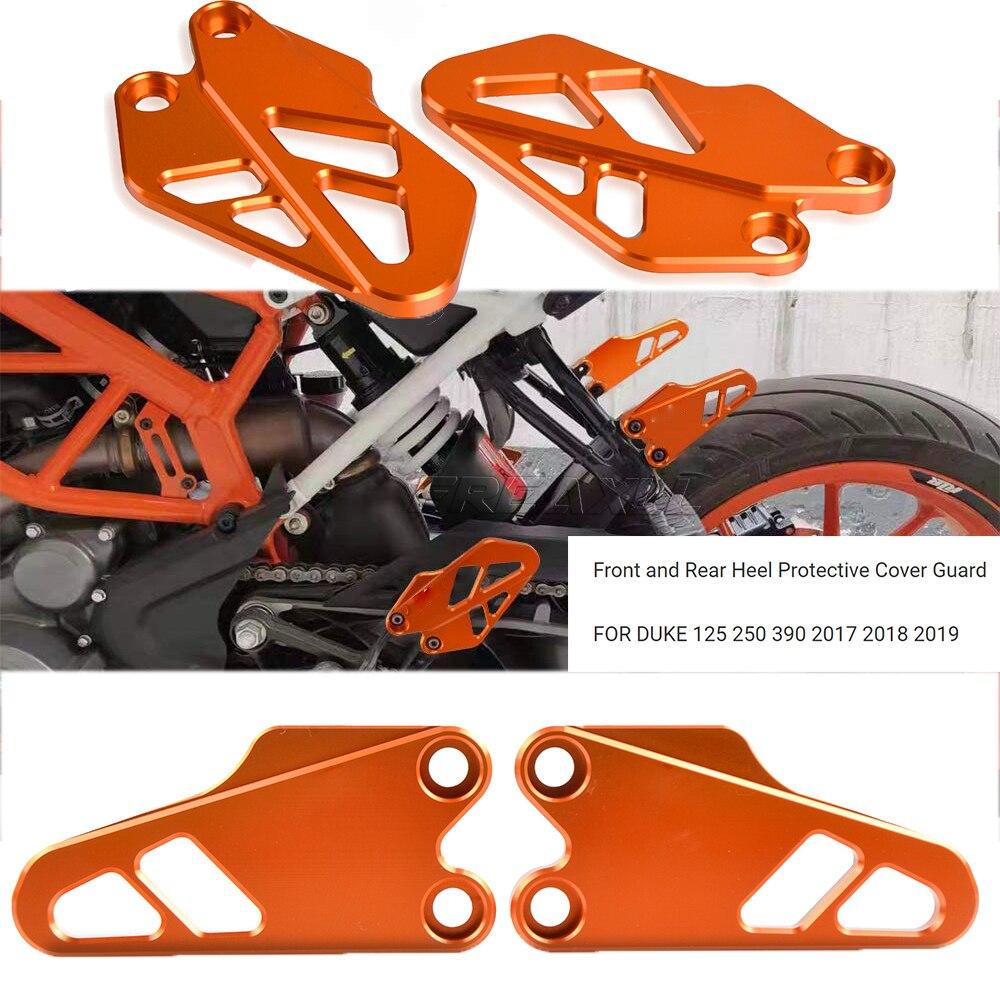 Новинка для KTM DUKE 125 2017 2018 2019 аксессуары для мотоциклов передняя и задняя защитная крышка на пятке защита фланцев для ног двигатель 125DUKE