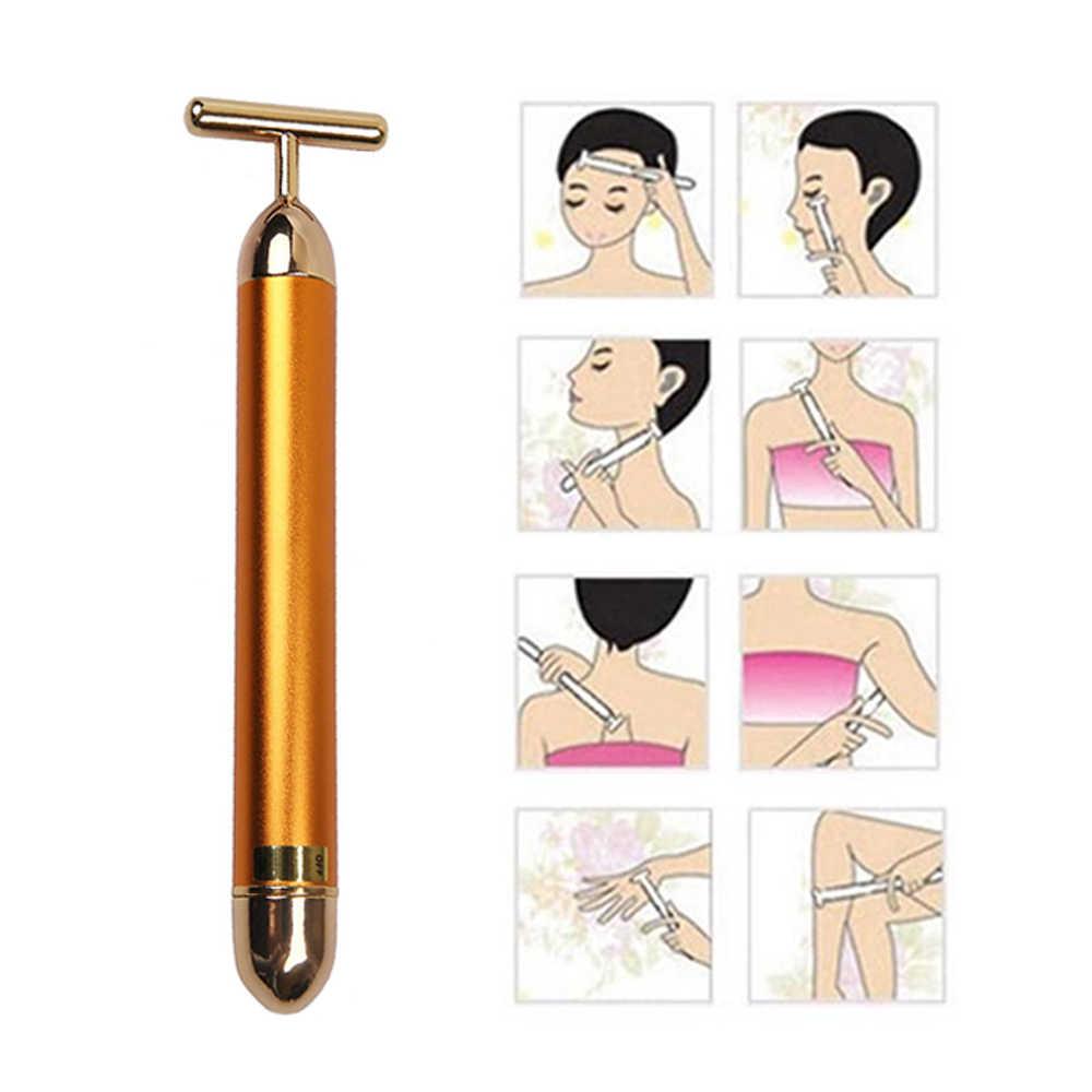 CAMMUO เทคโนโลยีจากญี่ปุ่น 24K Beauty Bar โกลเด้น Face Massager Beauty Care Vibration Facial Massager