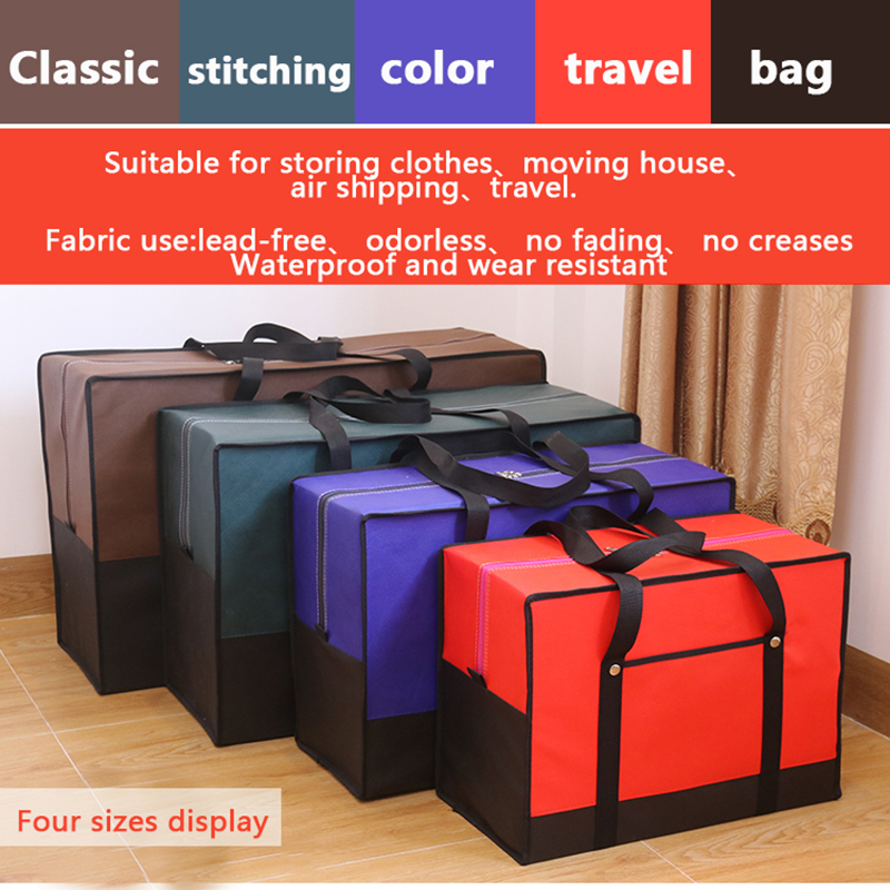 Moving House Big Bag Waterproof Canvas Large Capacity Men's Travel Bag Oxford Cloth Quilt Bag Luggage Packing