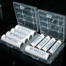 Caja de almacenamiento portátil de plástico duro para pilas AA/AAA, 2 uds.