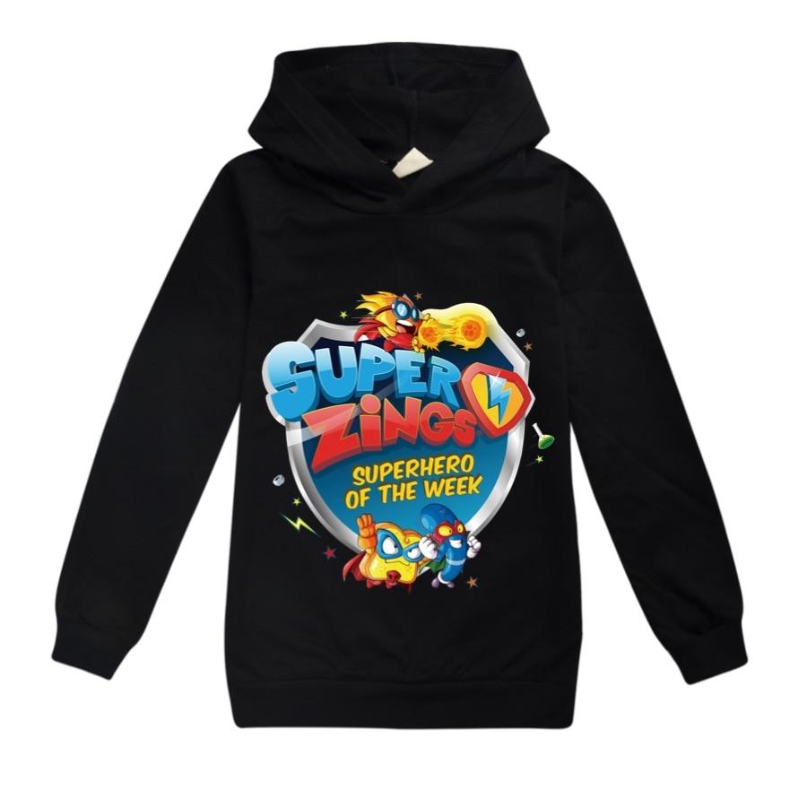 Meninos/meninas super zings impresso hoodies primavera outono topos superzings sweatshirts com capuz manga longa t camisas traje do esporte 2020