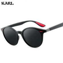 KARL new polarized sunglasses men driving glasses women Retro fashion round frame Gafas De Sol Hombrer