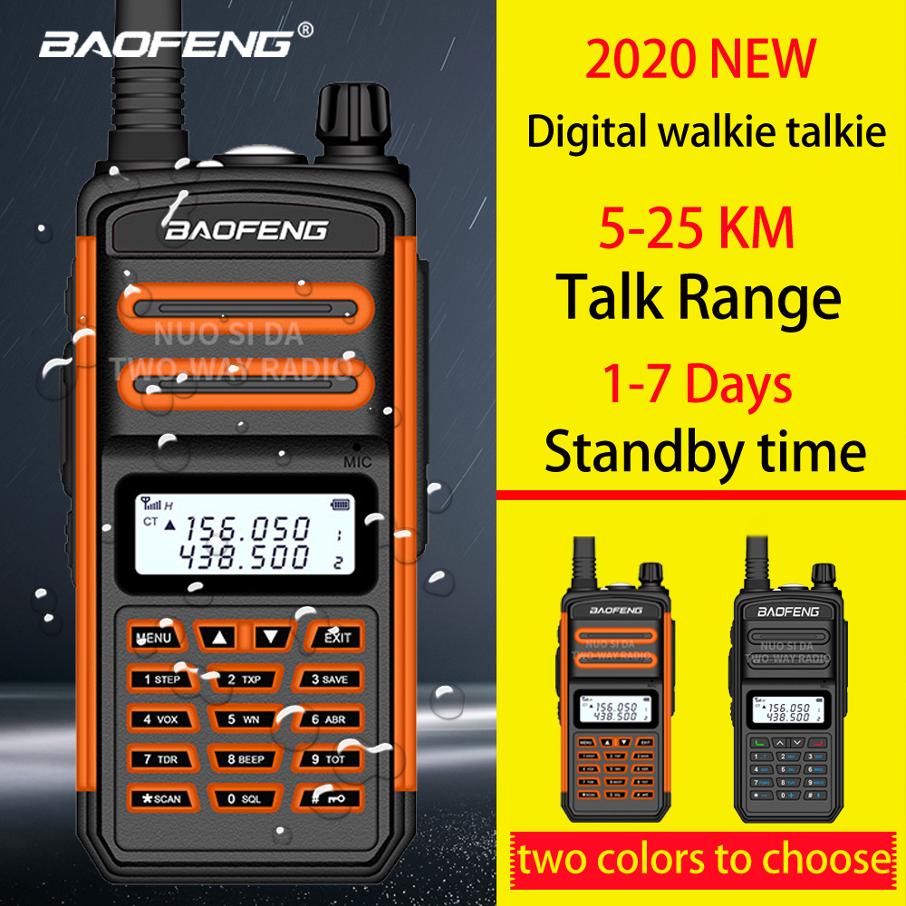 2020 Upgrade S5Plus Baofeng Waterproof Walkie Talkie Long Range 25km Two Way Radio Vhf Uhf Ham Radio Long Range CB Radio Station