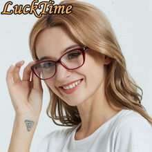 LuckTime แฟชั่นเพชรขนาดเล็กกรอบแว่นตา Retro ผู้หญิงกรอบแว่นตาสายตาสั้น Lucky Time Prescription แว่นตา frames1795