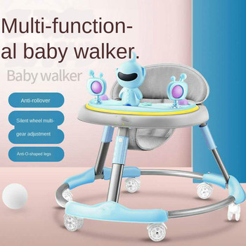 anti rollover baby activity child walker baby u walker car with wheels music folding baby learning walker walking assistant aid Hot Sale Baby Walker Anti-rollover Baby Walker Children Learn To Drive Folding Twist Car with Tray and 6 Wheels