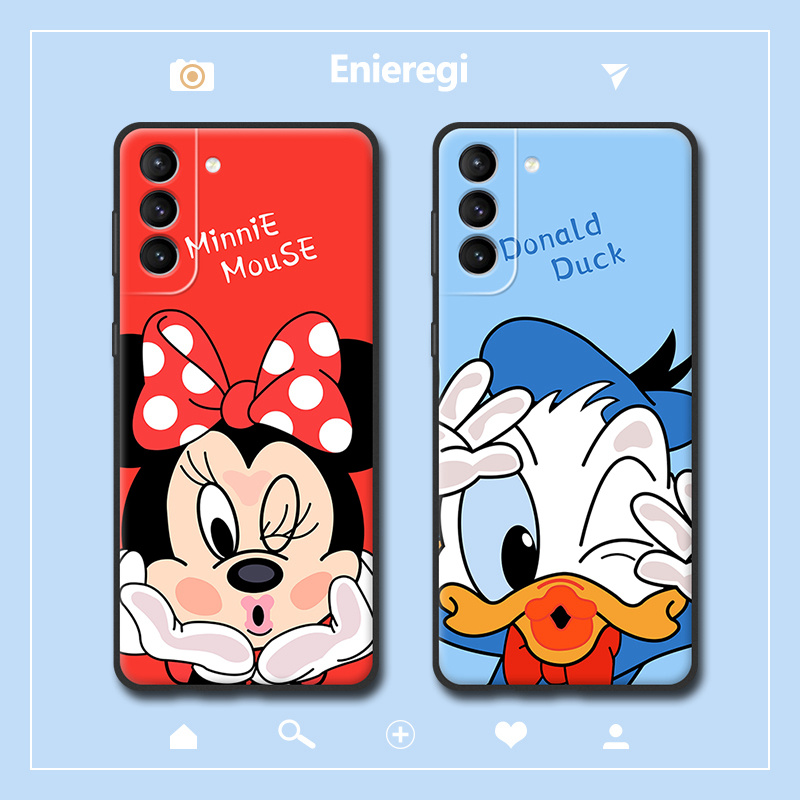 Disney phone cover is suitable for Samsung S21 Minnie phone case for Samsung S21Ultra anti-drop Mickey phone case