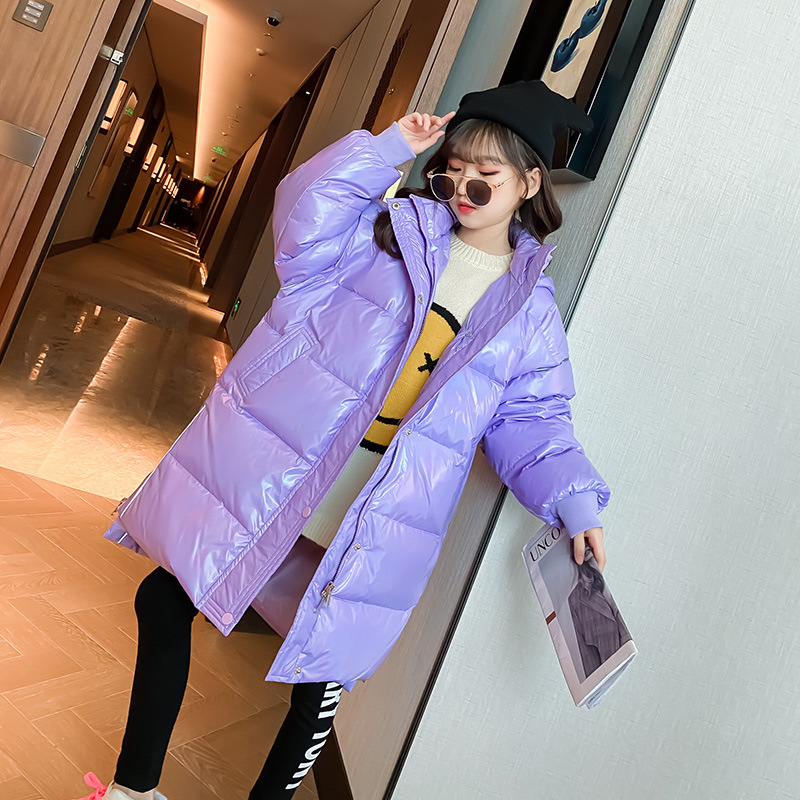 Пуховик для девочек с хлопковой подкладкой, зимнее пальто для девочек, детские зимние пальто, пальто для девочек, пуховое пальто для маленьк...